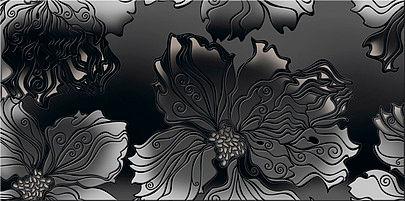 Декор ВАЛЬКИРИЯ Антрацит Цветы