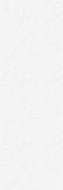 Плитка настенная ДИКАЯ РОЗА белый