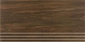 Керамическая ступень ШАЛЕ коричневый обрезной