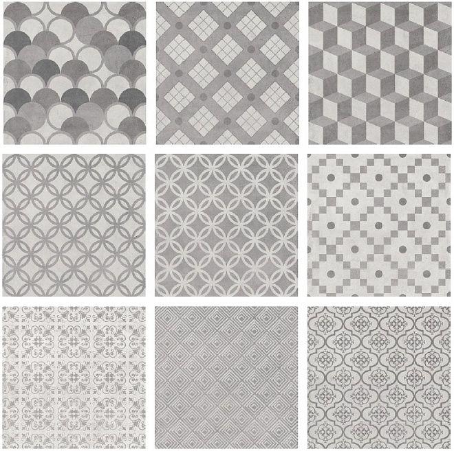 Плитка Карнаби-стрит орнамент серый