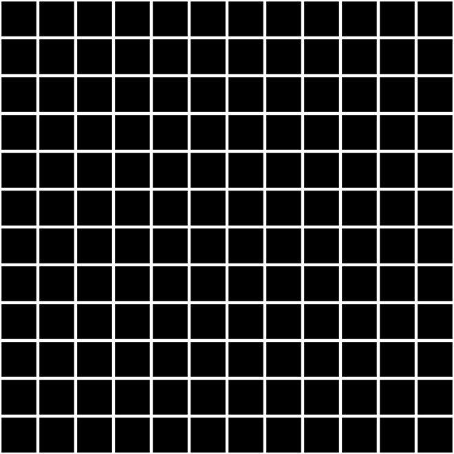 Мозаика ТЕМАРИ черный матовый