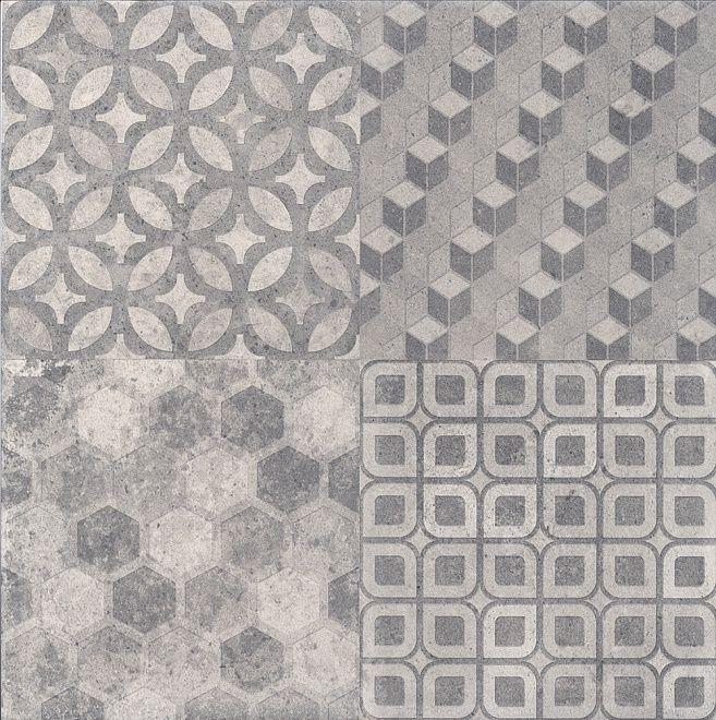 Плитка Саттон орнамент серый