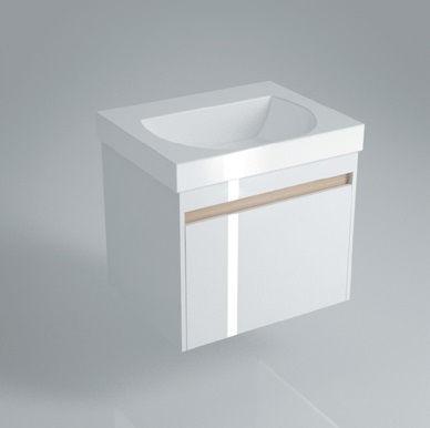 Тумба подвесная для раковины BUONGIORNO 60 с 1+1 ящиками белая