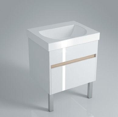 Тумба напольная для раковины BUONGIORNO 60 с 2 ящиками белая