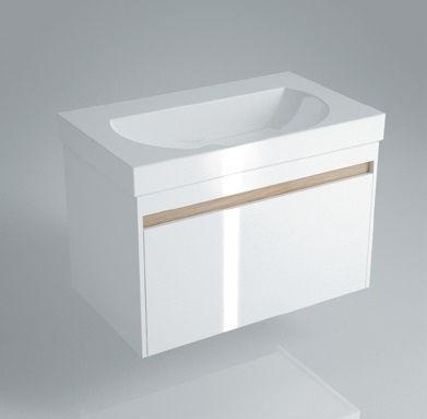 Тумба подвесная для раковины BUONGIORNO 80 с 1+1 ящиками белая