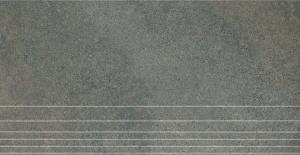 Керамогранит ГИМАЛАИ серый ступень обрезной