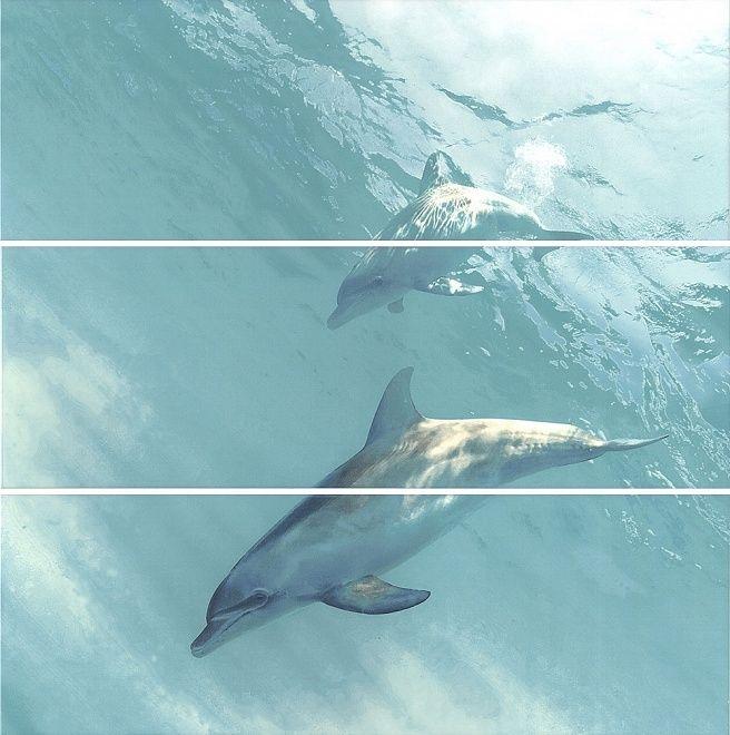 Панно ИСКЬЯ Дельфины