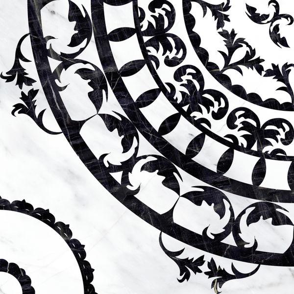 Вставка напольная ORIENTAL черно-белый
