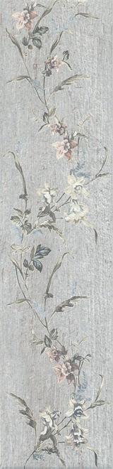 Керамогранит КАНТРИ ШИК серый декорированный 2 сорт