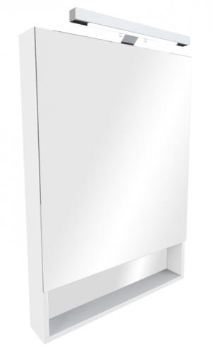 Зеркальный шкаф THE GAP белый, со светильником