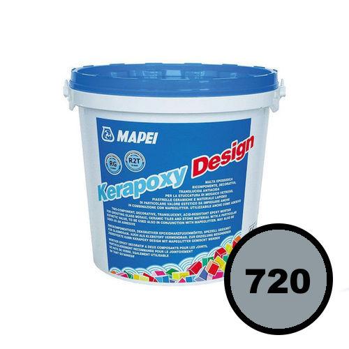 Двухкомпонентный декоративный шовный заполнитель KERAPOXY DESIGN 720 Жемчужно-серый