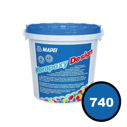 Двухкомпонентный декоративный шовный заполнитель KERAPOXY DESIGN 740 Синий