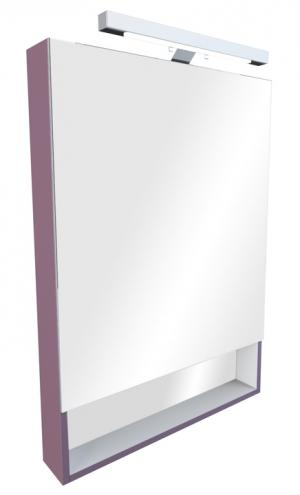 Зеркальный шкаф THE GAP фиолетовый, со светильником