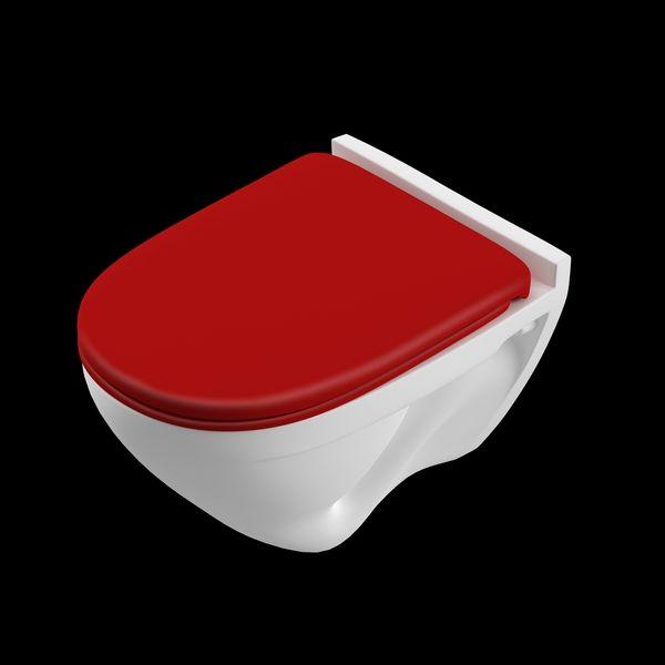 Унитаз подвесной Attica Color Red