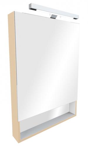 Зеркальный шкаф THE GAP бежевый, со светильником