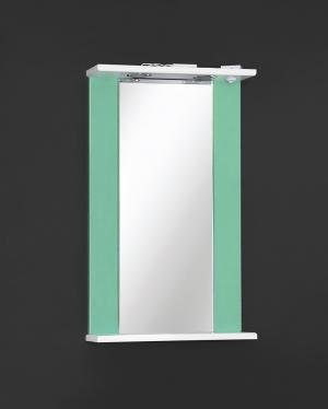 Зеркало Дуэт 45 (60, 70) Белый/Бирюза