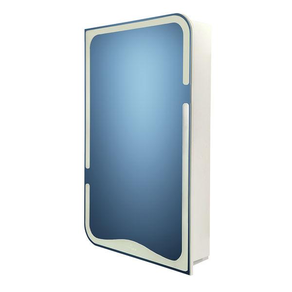 Зеркало-шкафчик BASIC без подсветки белый