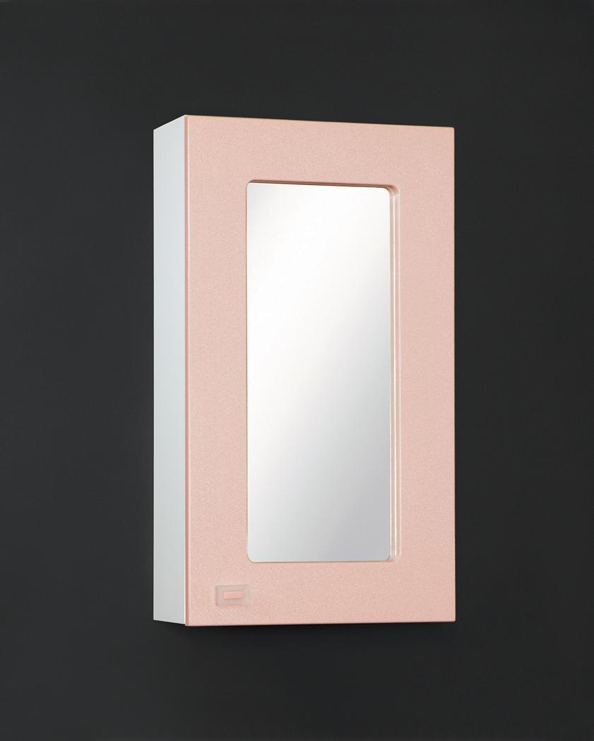 Зеркальный шкаф Акварель 45 Белый/Голубой